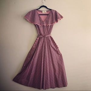 Vintage 1940s Crane & Abrahms Cotton Summer Dress